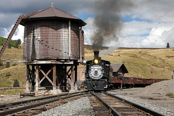 D&RGW 315 on the Cumbres & Toltec Railroad