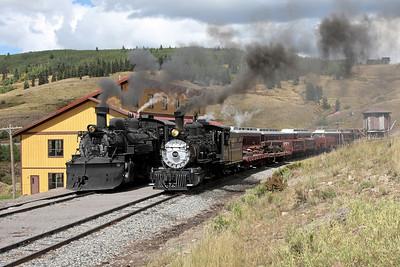 D&RGW 315 and C&TS 487 at Osier