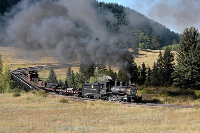 D&RGW 315 at Lobato Trestle