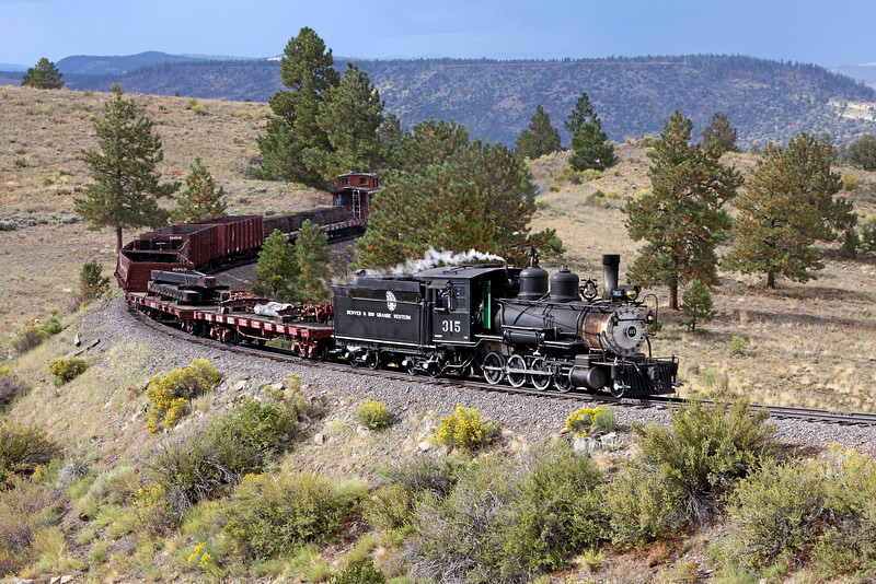D&RGW 315 at Big Horn NM