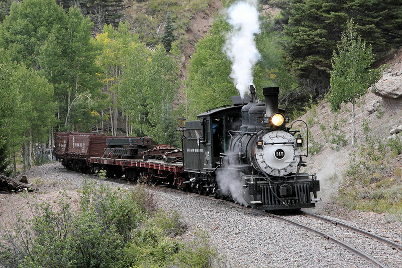 D&RGW 315 just east of Mud Tunnel