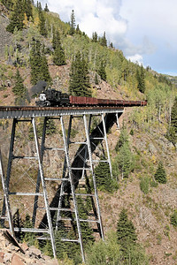 D&RGW 315 at Cascade Trestle
