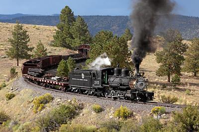 D&RGW 315 at Big Horn NM
