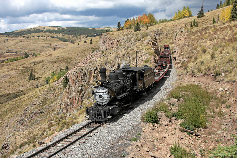 D&RGW 315 at MP 317, near Osier