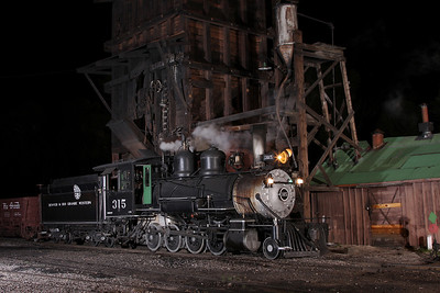D&RGW 315 in Chama
