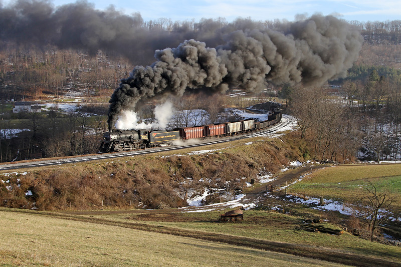 Corriganville, Maryland (Helmstetter's Curve) - January 2013