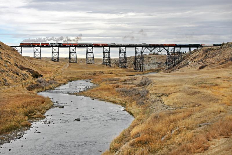 Cut Bank, Montana (Cut Bank Creek Trestle) - October 2009