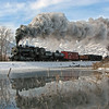 Heber Valley Railroad (Utah) : Heber Valley Railroad - Heber City, UT Photos from February 2007, featuring Union Pacific 2-8-0 #618 (Baldwin built 1907) with freight trains between Heber City and Provo Canyon. Since 1970, the Heber Valley Railroad (originally Heber Creeper) has operated tourist trains over 16 miles of a former Denver & Rio Grande Western Railroad branch built in 1899. Excursions are currently diesel-powered as both steam locomotives (618 & 75) have been out-of-service since 2008. For train schedules, visit the Heber Valley Railroad Website.