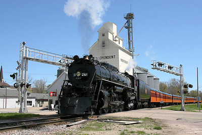Milwaukee Road 261 at Glencoe, Minnesota