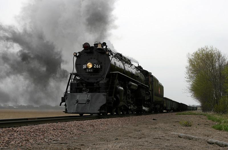 Milwaukee Road 261 at Norwood, Minnesota