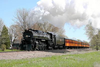 Milwaukee Road 261 at Glencoe, Minnesota