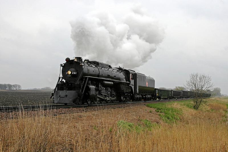 Milwaukee Road 261 at Brownton, Minnesota