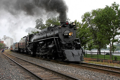 Milwaukee Road 261 southbound departing Red Wing, MN