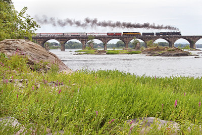 Nickel Plate 765 westbound on Rockville Bridge