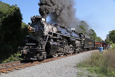 Nickel Plate 765 at Delaware Water Gap (Point of Gap)