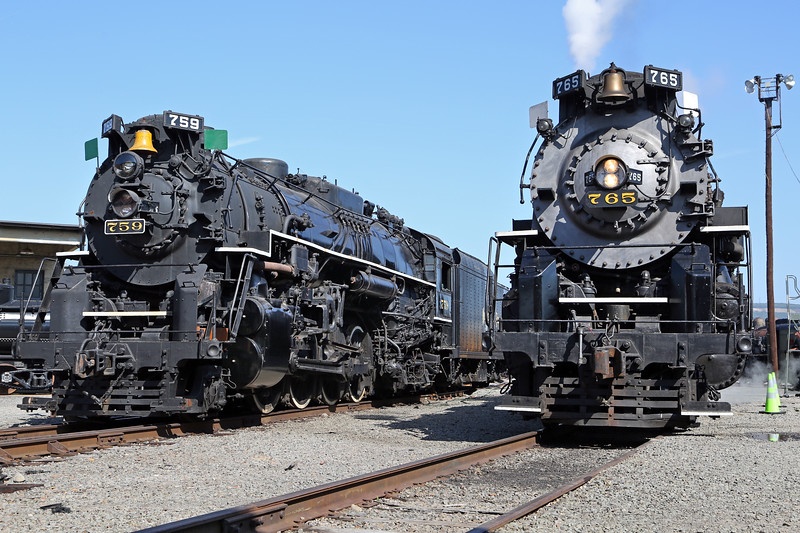 Nickel Plate 765 & 759 at Steamtown