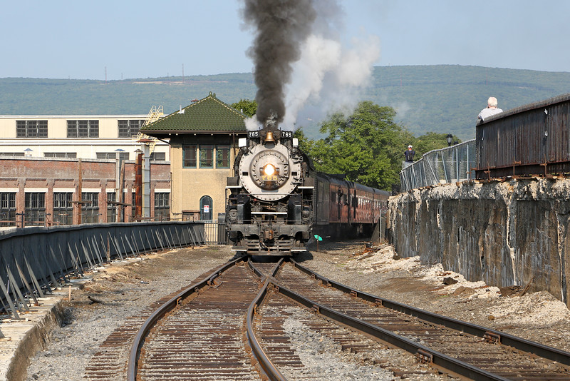 Nickel Plate 765 at Steamtown (Mattes Street Tower)