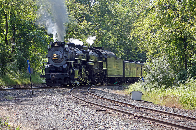 Nickel Plate 765 at Portland Wye