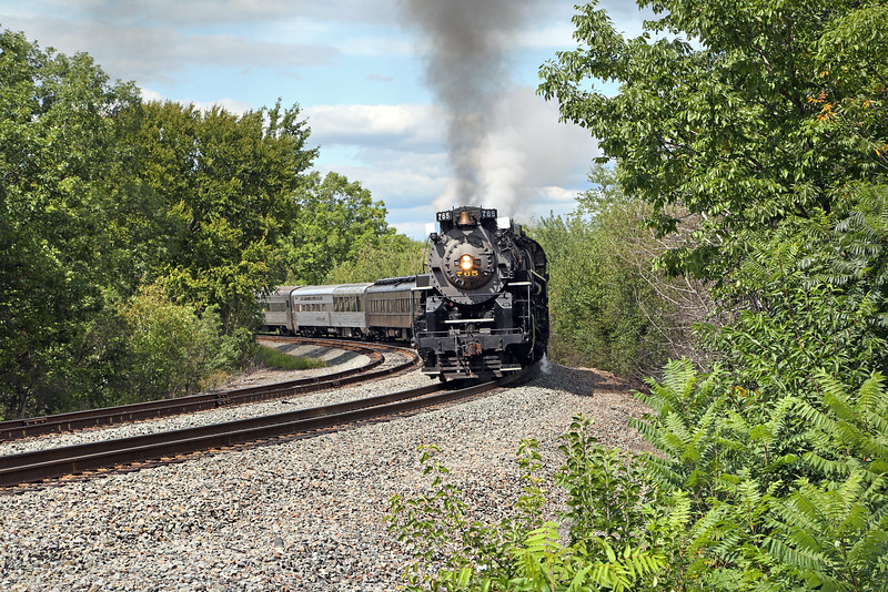 Nickel Plate 765 at Pittston (Oak St.)