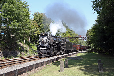 Nickel Plate 765 at Moscow