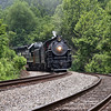 "Southern 630 at Philpott, Virginia, leading a Norfolk Southern ""21st Century Steam"" special from Winston-Salem to Roanoke"