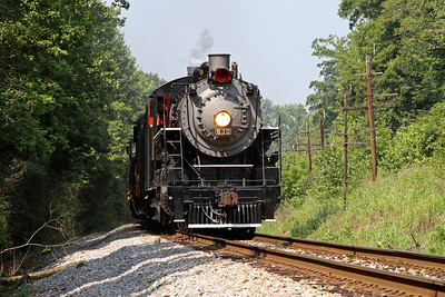 """Southern 630 at Pine Hall, North Carolina, leading a Norfolk Southern """"21st Century Steam"""" special from Winston-Salem to Roanoke"""