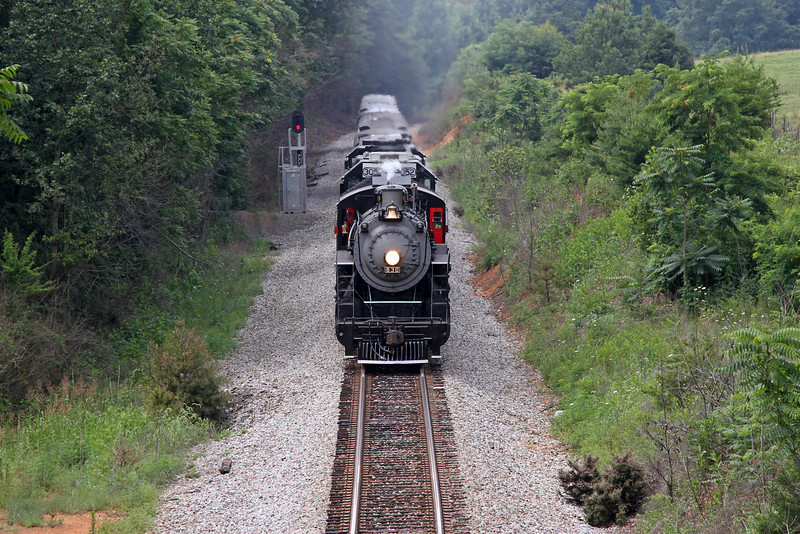 "Southern 630 at Ridgeway, Virginia, leading a Norfolk Southern ""21st Century Steam"" special from Winston-Salem to Roanoke"