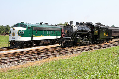 Southern FP7 #6133 leads the daily train at NC Transportation Museum