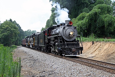 """Southern 630 at Price, North Carolina, leading a Norfolk Southern """"21st Century Steam"""" special from Winston-Salem to Roanoke"""