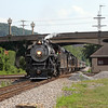 "Southern 630 passing JK Tower in Roanoke, Virginia, leading a Norfolk Southern ""21st Century Steam"" special from Winston-Salem to Roanoke"