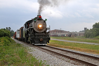 Southern 630 with Spencer Shops (NC Transportation Museum) in the distance
