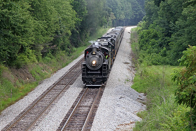 "Southern 630 at Wirtz, Virginia, leading a Norfolk Southern ""21st Century Steam"" special from Winston-Salem to Roanoke"