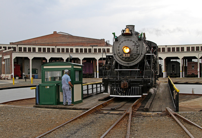 Southern 630 on the turntable at NC Transportation Museum