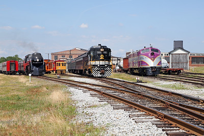 N&W 611 at Spencer, NC (w/ Southern GP-30 #2601 & ACL E3 #501)