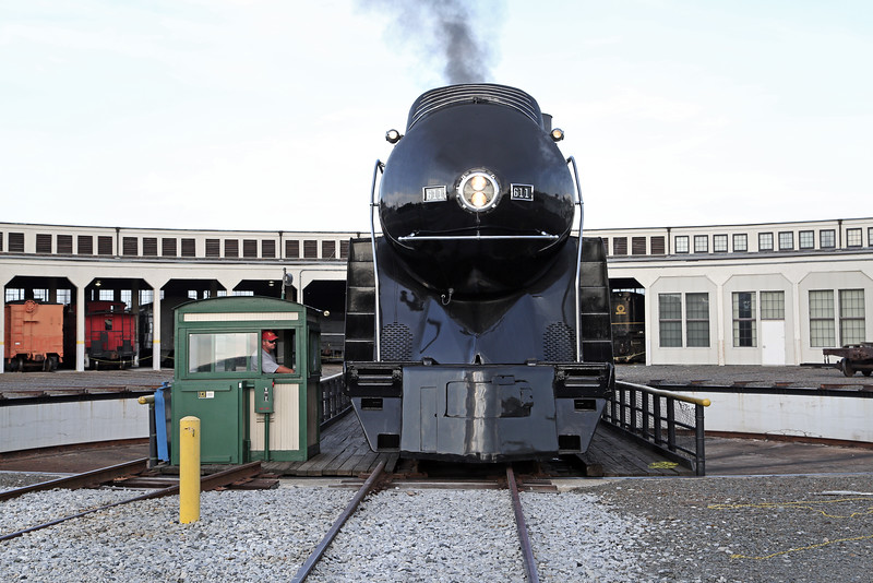 N&W 611 at Spencer, NC (turntable)