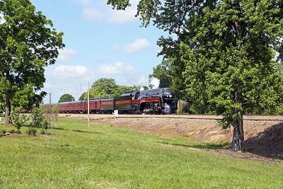 N&W 611 at Reidsville, NC