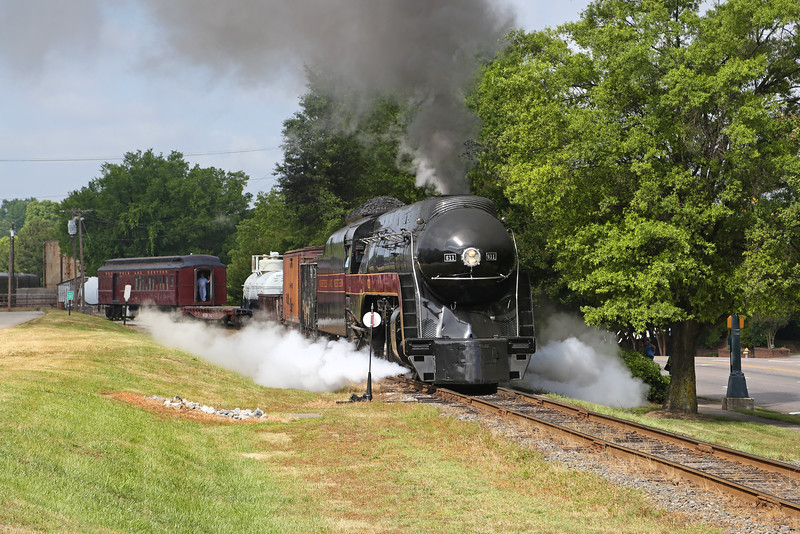 N&W 611 at Spencer, NC