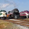 N&W 611 at Spencer, NC (w/ Southern FP-7 #6133 & ACL E3 #501)