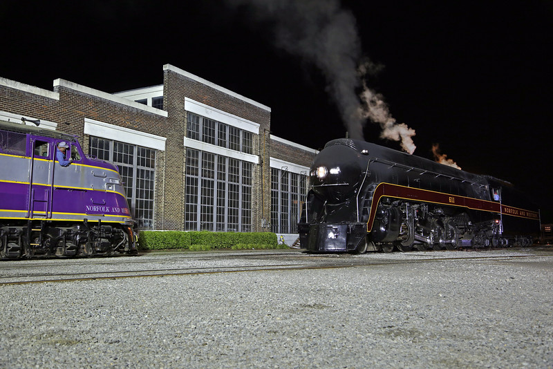 N&W 611 at Spencer, NC (w/ ACL E3 #501)