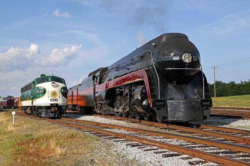 N&W 611 at Spencer, NC (w/ Southern FP-7 #6133)
