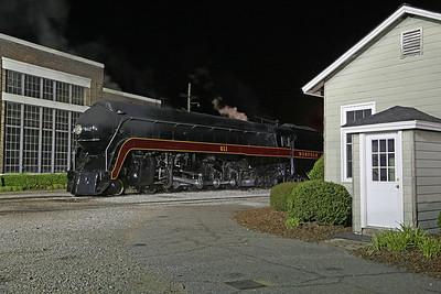N&W 611 at Spencer, NC