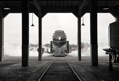 N&W 611 at Spencer, NC (roundhouse)