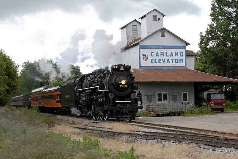 Nickel Plate 765 at Carland, Michigan