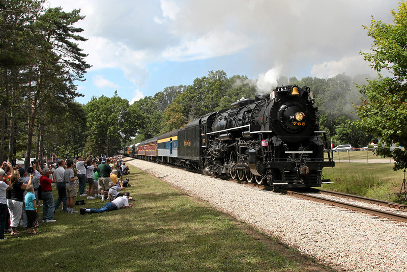 Nickel Plate 765 at Ithaca, Michigan (Woodland Park)