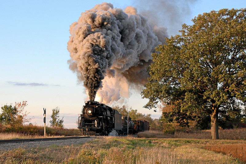 Nickel Plate 765 at Owosso, MI (King Road - St. Charles Branch)