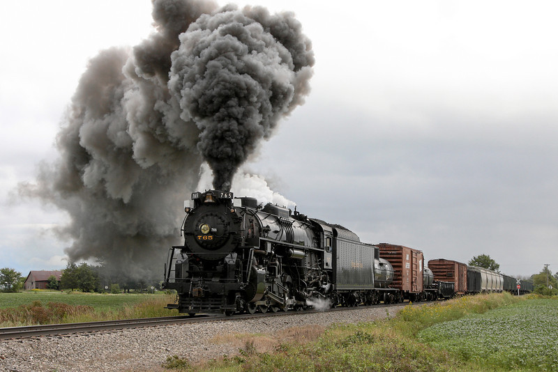 Nickel Plate 765 at Owosso, MI (Smith Crossing)