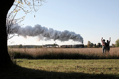 Nickel Plate 765 at Owosso, MI (approaching Smith Crossing)