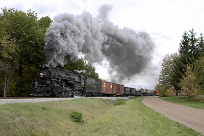 Nickel Plate 765 at Carland, MI (King Road)