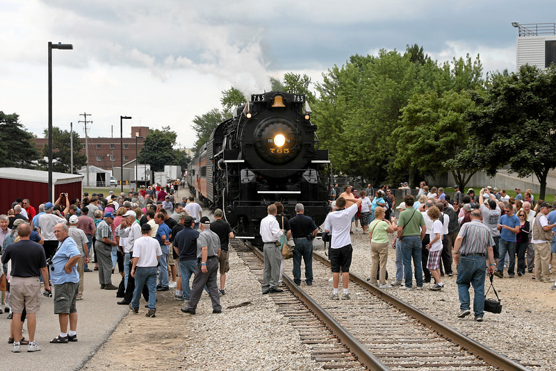 Nickel Plate 765 at Alma, Michigan