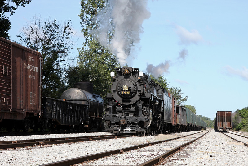 Nickel Plate 765 at Owosso, MI (Great Lakes Central Railroad Yard)